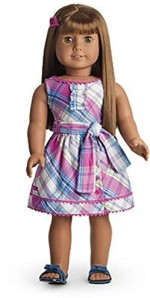 American Girl Dolls & Doll Houses American Girl My Ag Plaid Party Dress + Charm For