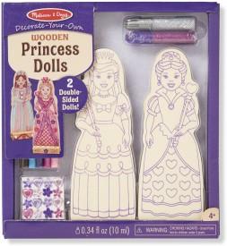 Melissa & Doug DYO Wooden Princess Dolls