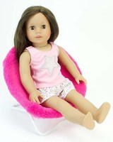 Sophia's 18 Inch Doll Furniture, Hot Pink Fuzzy Papasan Chair Perfect For Your 18 Inch American Girl Doll Clothes & More! Doll Hot Pink Papasan Chair (Pink)