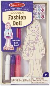 Melissa & Doug DYO Wooden Fashion Doll