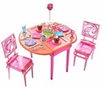 Barbie Dolls & Doll Houses Barbie Dinner To Dessert Dining Room Set
