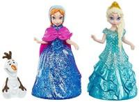 Mattel Disney Frozen Glitter Glider Annaelsa And Olaf Set (Multicolor)
