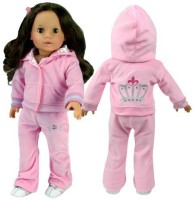 Sophia's Doll Clothing For 18 Inch Back Of Jacket & Front Of Pants Velour & Satin Doll Sweatsuit (Multicolor)