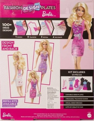 How To Use Barbie Fashion Design Plates Barbie Fashion Design Plates
