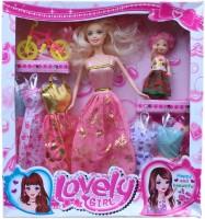 Tootpado Lovely Girl Doll With A Baby, Bicycle And Fancy Wardrobe - 1c173 - Fun Fashion Holiday Toys For Kids (Pink)