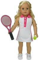 Sophia's Fits American Girl Dolls 18 Inch Doll Tennis Dress Set, Includes Dress, Doll Tennis Racket & Ball (Pink)