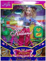 New Pinch Dolls & Doll Houses New Pinch Pretty Keeland Doll With Cycle