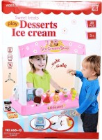 Planet Of Toys Sweet Treats Ice Cream Parlour Toy (36 Pieces) (Multicolor)