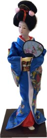 China Japanese Traditional Geisha Lady Doll Handmade 30cm