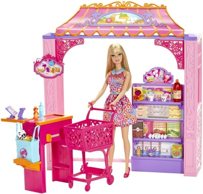 Barbie Dolls & Doll Houses Barbie Shops with Doll Grocery Store
