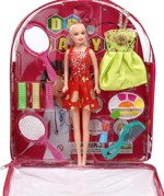 New Pinch Dolls & Doll Houses New Pinch Multicolor Bag Doll With Make Up Set