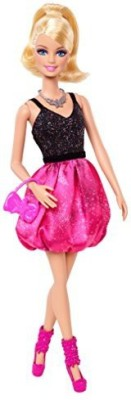 Barbie Dolls & Doll Houses Barbie Fashionista Party Glam Pink And Black Dress