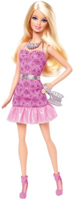 Barbie Dolls & Doll Houses Barbie Fashionista Party Glam Doll, Pink Strapless Dress