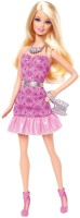 Barbie Fashionista Party Glam Doll, Pink Strapless Dress (Multicolor)