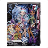 Monster High Scare And Make-Up Two Pack Featuring Viperine Gorgon And Clawdeen Wolf Dolls (Multicolor)