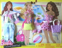 Mattel Barbie Fashionistas Day Looks Clothes Bright Beach Outfits (Multicolor)