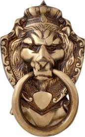 Handecor Victorian Style Lion Mouth Brass Door Knocker
