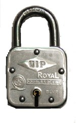 V.I.P. Iron Metallic door lock