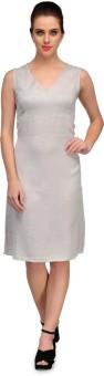 Kiosha Women's A-line Grey Dress