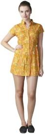 L.A.D.V Women's Sheath Yellow Dress