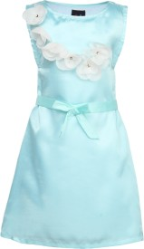 Herberto Girl's A-line Blue Dress