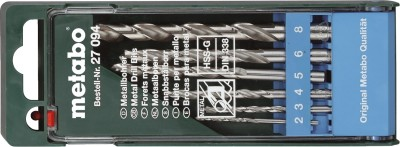 HSS 27 094 Twist Drill Brad Points Set (6 Pc)