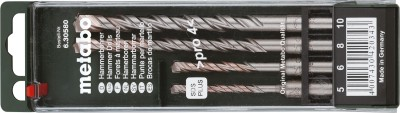 Metabo-6.30580-SDS-Plus-Pro-Tipped-Hammer-Drill-Bit-Set-(4-Pc)