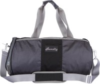 Bendly Round Gym 17 Inch Travel Duffel Bag Black