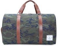 Bareskin CAMOFLAGE CANVAS / TAN LEATHER DUFFLE BAG 20 Inch/50 Cm Camouflage/tan
