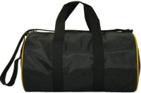 Compass Trendy Curve Design 15 Inch Gym Bag Black, Yellow