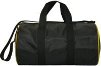 Compass Trendy Curve Design 15 Inch Gym Bag Black, Yellow