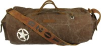 The House Of Tara Distress Finish Canvas Duffle/Gym Bag 20 Inch/50 Cm Acorn Brown