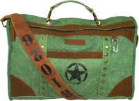 The House Of Tara Distress Finish Studded Duffle Bag 19 Inch/48 Cm Hedge Green
