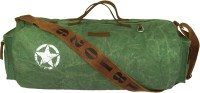 The House Of Tara Distress Finish Canvas Duffle/Gym Bag 20 Inch/50 Cm Hedge Green