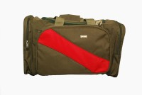 Raeen Plus Red_stripe 18 Inch Travel Duffel Bag Brown