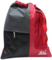 Laviva Stylish Gym Bag 3 L Backpack (Black And Red)