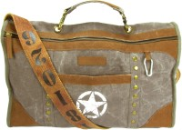 The House Of Tara Distress Finish Studded Duffle Bag 19 Inch/48 Cm Stone Grey
