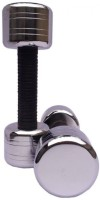 National Fitness Round Edge With Rubber Grip Fixed Weight Dumbbell (Pack Of 2, 2 Kg Each)
