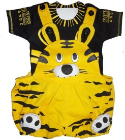 ICABLE Baby Boy's Yellow Dungaree