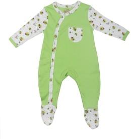 Morisons Baby Dreams Girl's, Boy's Light Green Romper