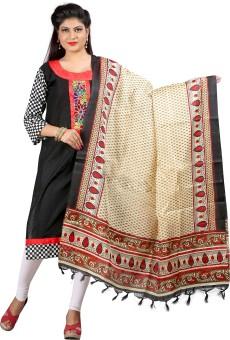 Archishmathi Art Silk Floral Print Women's Dupatta - DUPEJZZHRMRGV4HQ