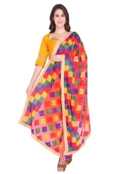 Dupatta Bazaar Faux Chiffon Embroidered Women's Dupatta - DUPEBWRHVFGCS8NF
