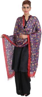 Narangi Silk Cotton Blend Floral Print Women's Dupatta - DUPEA8WRHZGNZBTQ