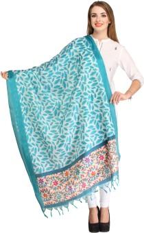 Aksara Art Silk Floral Print Women's Dupatta - DUPEEFCXFWSVKDRY