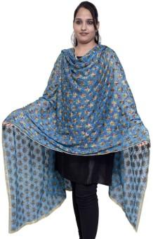 S.K. Ethnic India Faux Chiffon Embroidered Women's Dupatta - DUPEECKGSHPPPFS2