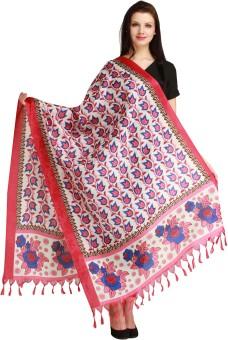 Aksara Art Silk Floral Print Women's Dupatta - DUPEGX4DMXFYHHEF