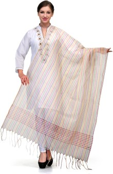 Enchanted Drapes Chanderi Striped Women's Dupatta