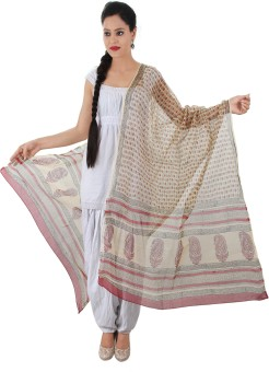 Geeta Silk Cotton Blend Floral Print Women's Dupatta