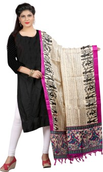 Archishmathi Art Silk Floral Print Women's Dupatta - DUPEJSGA78C6RJUJ