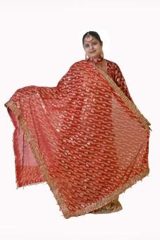 Dulhan Choice Faux Chiffon Embroidered Women's Dupatta
